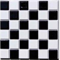 ハイカラー 23ミリ角 市松模様 白×黒 お手軽タイプ